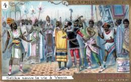 Chromos Veritable Extrait De Viande Liebig  (  4-selika Sauve La Vie A Vasco ) - Liebig