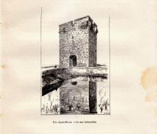 1892 - Gravure Sur Bois - Aigues-Mortes (Gard) - La Tour Carbonnière - FRANCO DE PORT - Prints & Engravings