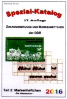 Markenheftchen Teil 2 DDR-Katalog RICHTER 2016 New 25€ Standard Heftchen+Abarten Booklet+error Special Catalogue Germany - Tedesco