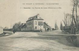76,Seine-Maritime, NEUVILLE, La Fourche Des Routes,d´Enverneu Et D´Eu, Personnages, Scan Recto-Verso - Francia
