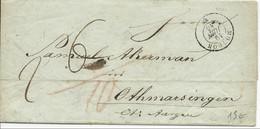 SUISSE - 1845 - LETTRE De MOUDON Pour OTHMARSINGEN - Storia Postale
