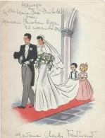 2  Menus De Mariage/Diebold-Roger  / Ferdinand/Déjeuner-Diner / 1947    MENU151 - Menus