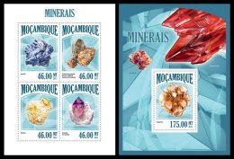 MOZAMBIQUE 2013 - Minerals - YT 5729-32 + BF758; CV = 33 € - Mineralen