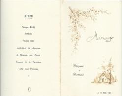 1  Menu De Mariage/Brigitte Et Pierrick/ Déjeuner-Diner / 1983    MENU152 - Menus