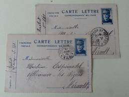 Lot 2 Carte Lettre Entier Postal Gen Joffre 1915 - Marcophilie (Lettres)