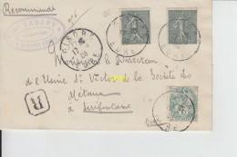 Timbres  Sur Pli   1906 - France