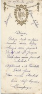 2  Menus De Mariage/Lefebvre/Ferdinand/Diner / 1925    MENU154 - Menus