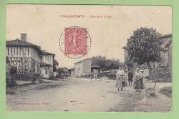 VOILLECOMTE : Rue De La Croix . 2 Scans. Edition Jacquinot - Autres Communes