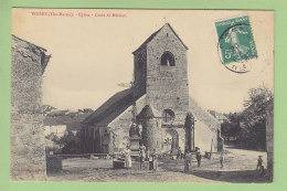 VOISEY : Eglise, Croix De Mission. Tampon Justin Janny Menuisier à Voisey. 2 Scans. Edition Denizot - Autres Communes