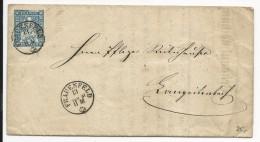 SUISSE - 1861 - LETTRE De L'ADMINISTRATION FISCALE De FRAUENFELD (THURGAU) - 1854-1862 Helvetia (Non Dentellati)