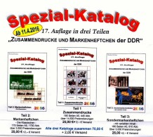 RICHTER # 1-3 DDR 2016 Zusammendrucke+Markenhefte+SMH Katalog New 75€ Se-tenant+booklet+carnet Special Catalogue Germany - Telefonkarten