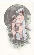 Nus -- Dessin -- Scène Pornographique Dans Les Bois - Drawings