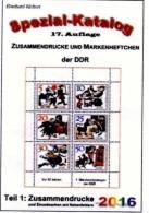 RICHTER DDR 2016 Part 1 Zusammendruck New 25€ Katalog ZD Varianten Zierfeld Leerfeld Se-tenant Special Catalogue Germany - Vieux Papiers