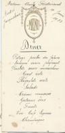 2   Menus De Mariage/André Et Jacqueline /Ferdinand/-Diner  / 1933    MENU162 - Menus
