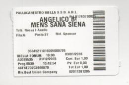 Alt894 Biglietto Ingresso Access Ticket Partita Match Basket Pallacanestro Angelico Biella MensSana Siena Sport - Biglietti D'ingresso