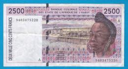 COTE D'IVOIRE  2500 FRANCS CFA   REF A060416 - Armenia