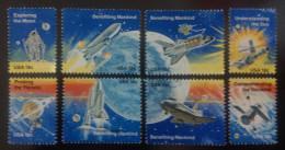 1981 USA  Space Achievement Stamps Moon Sun Planet Sc#1912-1919 - Space