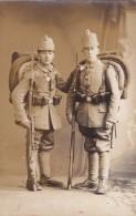 Foto Deutscher Soldaten Jäger Bataillon Marburg-Lahn Tschako Gewehr Bajonett Taschenlampe Feldgrau - Oorlog, Militair