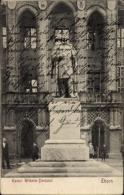 Cp Toru? Thorn Westpreußen, Kaiser Wilhelm Denkmal, Gebäudefassade, Passanten - Westpreussen