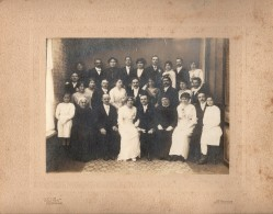 Grande Photo Originale Albuminée & Cartonnée - Mariage 1900 - Photographe Théo Grat - Saint-Nazaire 44600 - - Personas Anónimos
