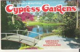 Souvenir Folder Of Cypress Gardens, Florida America's Tropical Wonderland - Etats-Unis