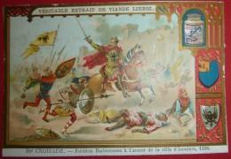 Chromo Liebig - 3me Croisade - Frédéric Barberousse à L'assaut De La Ville D'Iconium, 1188 - Emmargée Haut Et Côtés - Liebig