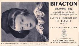 BUVARD BIFACTON LABORATOIRE DE L´ENDOPANCRINE  VELASQUEZ L'INFANT BALTHAZAR CARLOS PRADO - Buvards, Protège-cahiers Illustrés