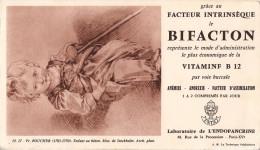 BUVARD BIFACTON LABORATOIRE DE L´ENDOPANCRINE  FR.BOUCHER ENFANT AU BATON - Buvards, Protège-cahiers Illustrés
