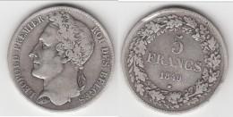 **** BELGIQUE - BELGIUM - BELGIE - 5 FRANCS 1849 LEOPOLD PREMIER - ARGENT - SILVER **** EN ACHAT IMMEDIAT - 11. 5 Francs