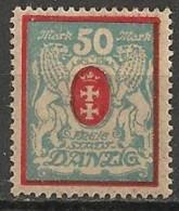 Timbres - Allemagne - Etranger - Dantzig - 1921-1923 - 50 Mark -