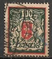 Timbres - Allemagne - Etranger - Dantzig - 1921-1923 - 100 Mark -