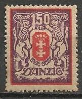 Timbres - Allemagne - Etranger - Dantzig - 1921-1923 - 150 Mark -