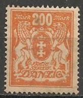 Timbres - Allemagne - Etranger - Dantzig - 1921-1923 - 200 Mark -