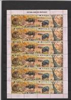 BURUNDI Yvert 434 à 437  X 6 En Feuille  Neufs Sans Charnière - Faune Animaux  Lion, Buffle Du Cap, Hippopotame, Girafe - Francobolli