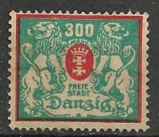 Timbres - Allemagne - Etranger - Dantzig - 1921-1923 - 300 Mark -