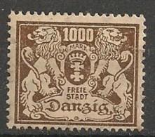 Timbres - Allemagne - Etranger - Dantzig - 1921-1923 - 1000 Mark -