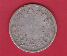 France 5 Francs Argent Louis Philippe 1831 A - Tranche En Relief - B - J. 5 Francs