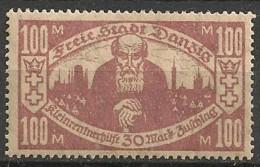 Timbres - Allemagne - Etranger - Dantzig - 1923 - 100 M. -