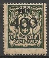 Timbres - Allemagne - Etranger - Dantzig - 1923 - 400 Mark -