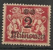 Timbres - Allemagne - Etranger - Dantzig - 1923 - 2 Millionen -
