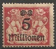 Timbres - Allemagne - Etranger - Dantzig - 1923 - 5 Millionen -