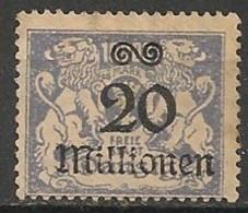 Timbres - Allemagne - Etranger - Dantzig - 1923 - 20 Millionen -
