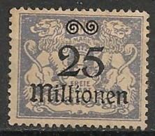 Timbres - Allemagne - Etranger - Dantzig - 1923 - 25 Millionen -