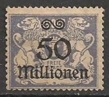 Timbres - Allemagne - Etranger - Dantzig - 1923 - 50 Millionen -