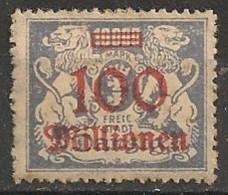 Timbres - Allemagne - Etranger - Dantzig - 1923 - 100 Millionen -