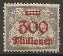 Timbres - Allemagne - Etranger - Dantzig - 1923 - 300 Millionen -