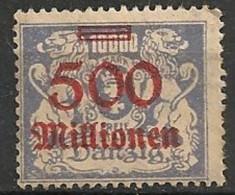 Timbres - Allemagne - Etranger - Dantzig - 1923 - 500 Millionen -