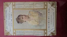 CALENDRIER SUR CARTON RIGIDE 1894!!! - Calendriers