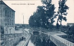 PORT SUR SAONE - Le Canal Péniche Tirée Par Chevaux Sur Le Chemin De Halage - Frankreich