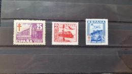 España 1948  IVERT  Nº 237a/239a/239a  Aéreo  MNH** - Nuevos & Fijasellos